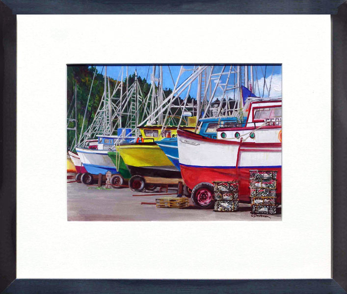 catherine-buchanan-fishing-boats-7x9-gouche